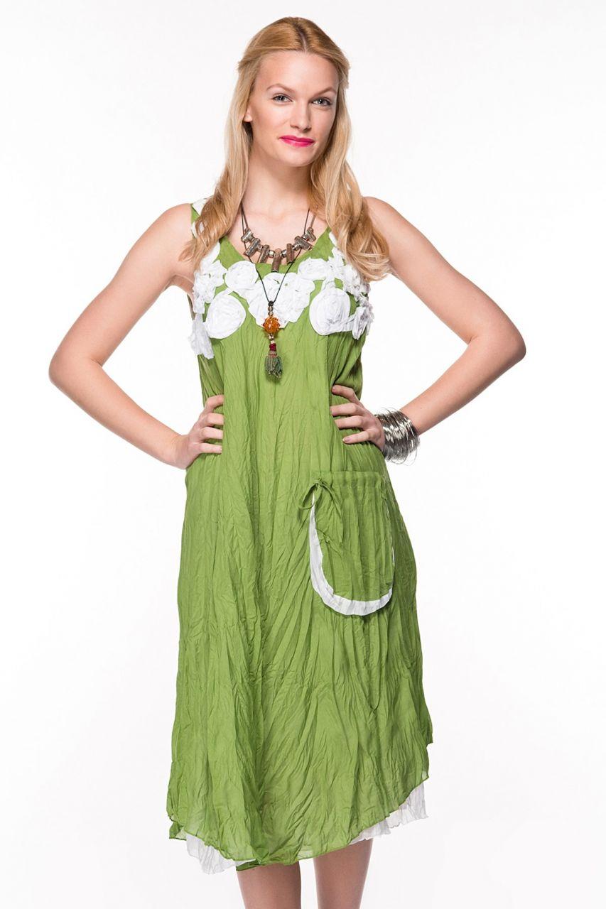 Otantik Yeşil Elbise